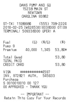 Gas Receipt Preview Image